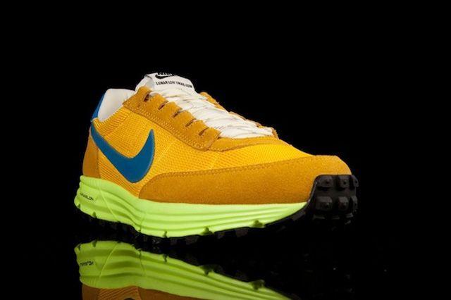 Nike Lunar Ldv Trail Qs Yellow Blue Toe Quarter