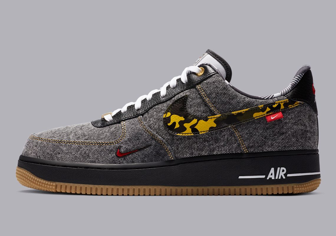 Nike Air Force 1 Denim Camouflage Left
