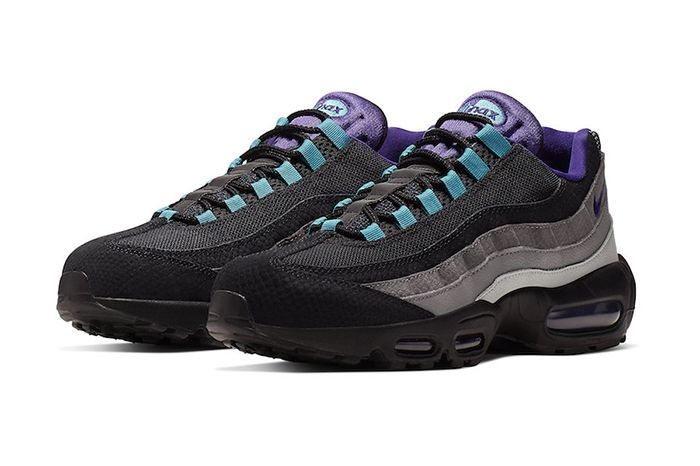 Nike Air Max 95 Black Grape Black Court Purple Teal Nebula Ao2450 002 Release Date Pair