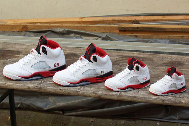 Air Jordan 5 Fire Red Black Tongue 6