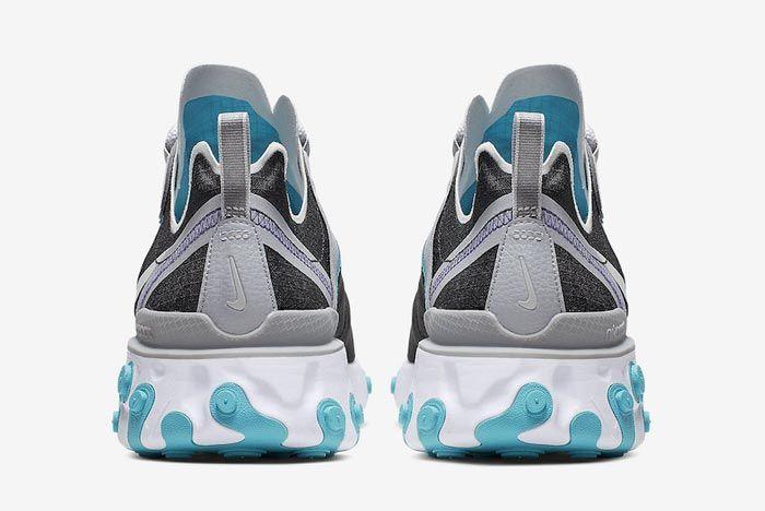 Nike React Element 55 Wolf Grey Pure Platinum Aqua Heels