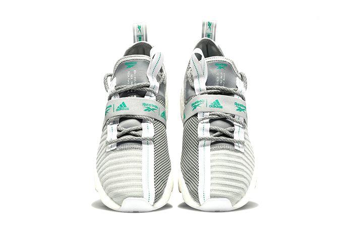 Adidas Reebok Sole Fury Boost True Grey Emerald Fw0166 Release Date Top Down