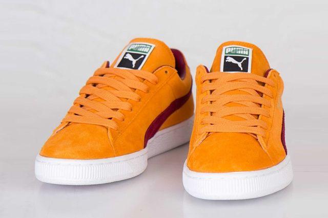 Puma Suede Classic Bright Marigold Pomegranate 5