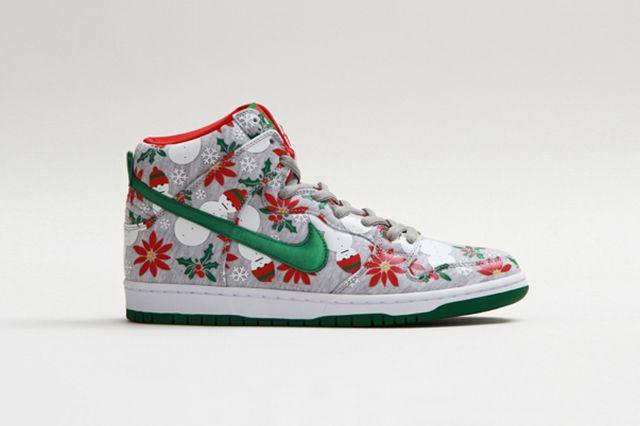 Concepts Nike Sb Dunk High Ugly Christmas Sweater 15