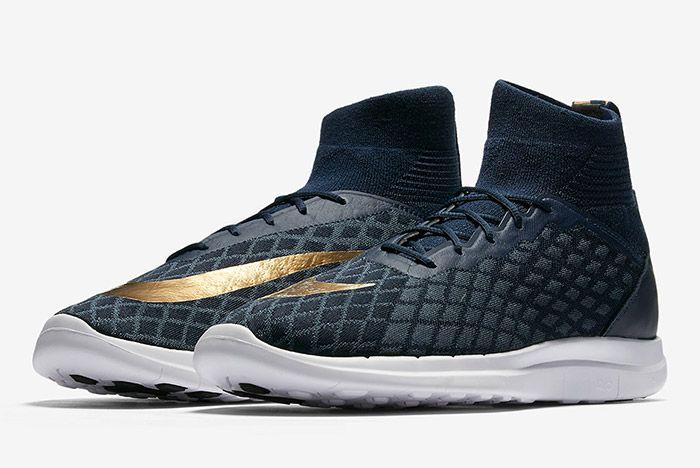 Nike Free Hypervenom Iii Flyknit Navy Blue Gold 6