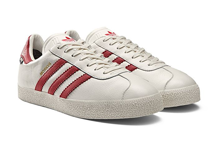 Adidas Gazzelle Gtx City Pack White Red Moskva 1