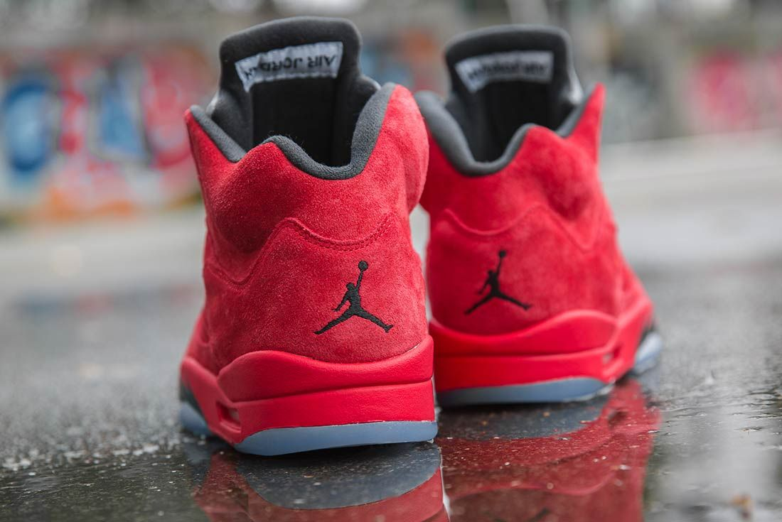 Air Jordan 5 Red Suede 3