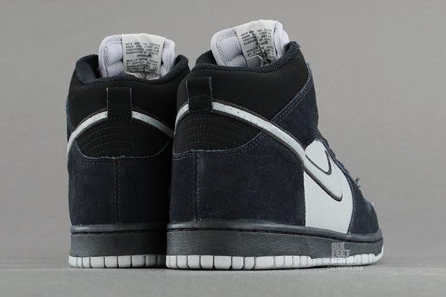 Nike Dunk High Black Reflective Silver Back