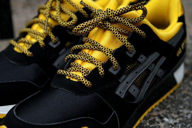 Asics Gel Lyte Iii Black Yellow Kith Lacing 1