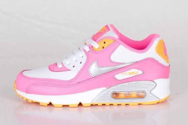 Nike Air Max 90 Gs Pink Glow Metallic Silver Thumb