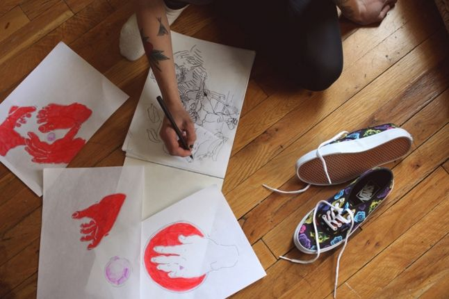 Dqm Vans Girls Photo Shoot Kitchen Drawings 1