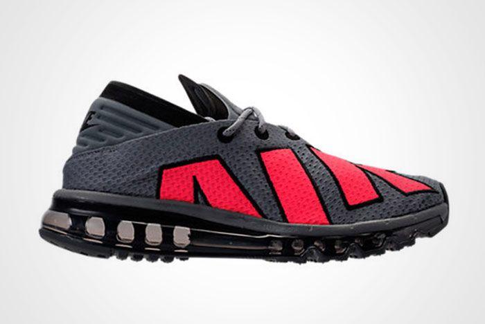 Nike Air Max Flair Cool Grey Solar Red Thumb