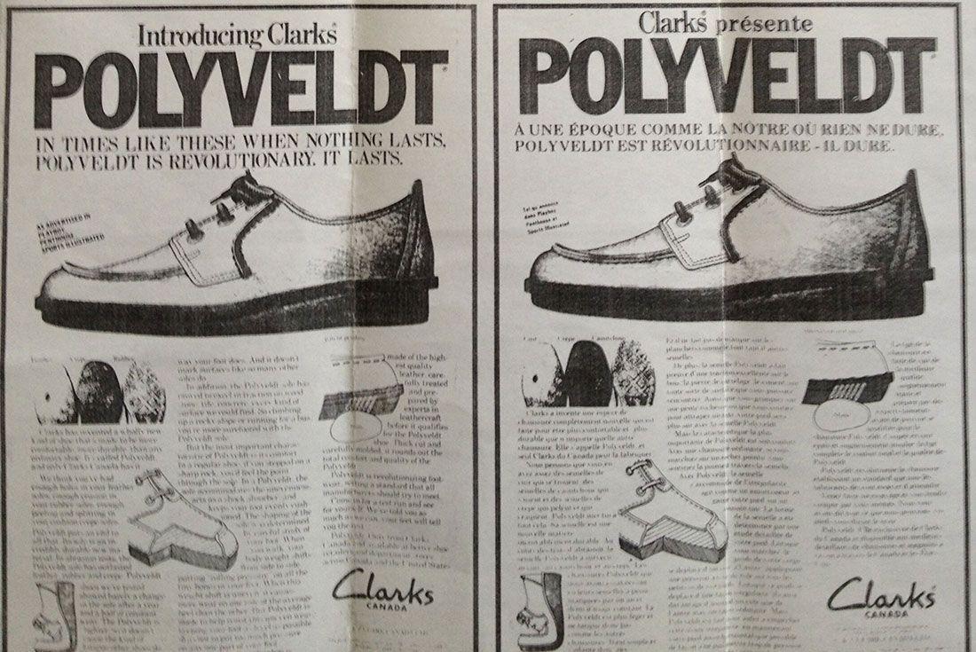 1970s Clarks Polyveldt Ad