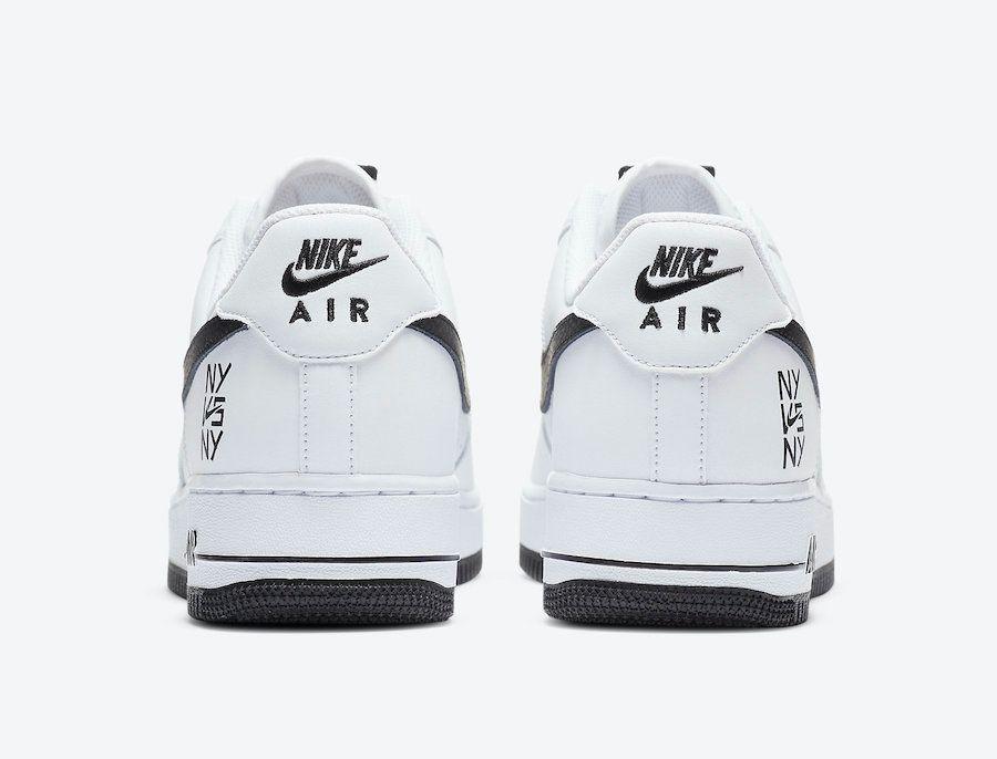Nike Air Force 1 NY vs NY Heel