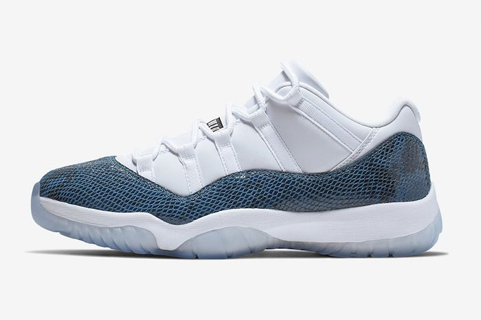 Air Jordan 11 Low Navy Snakeskin Cd6846 102 Release Date Lateral