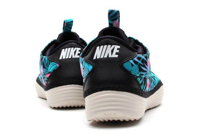Nike Solarsoft Moccasin Sp Tropical Floral Pack Blue Pink Heel Profile 1