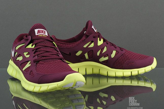 Nike Free Run 2 Bordeaux Pair 1