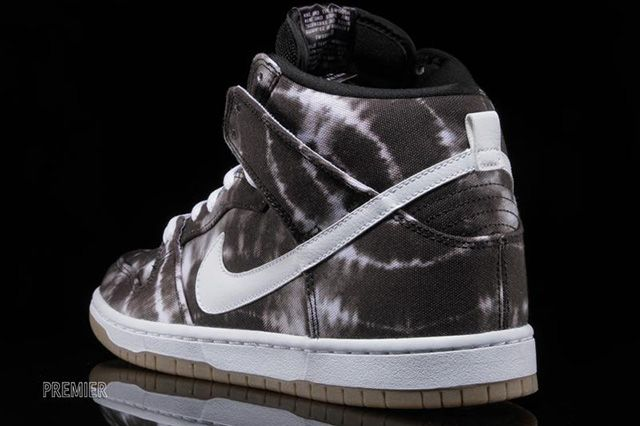 Nike Sb Dunk High Black White Tie Dye 5