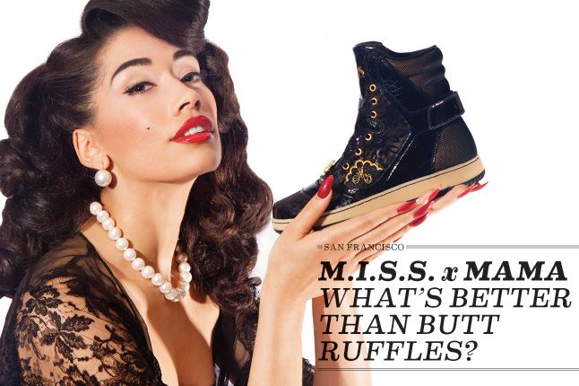 Miss X Mamma Adidas Hightops 1