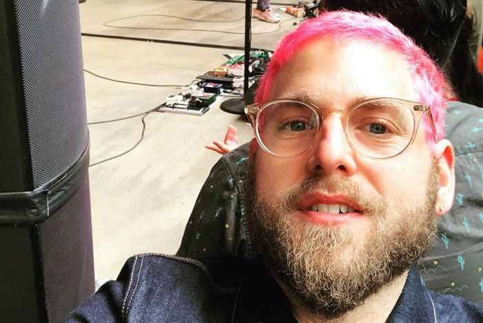 Jonah Hill Pink Hair