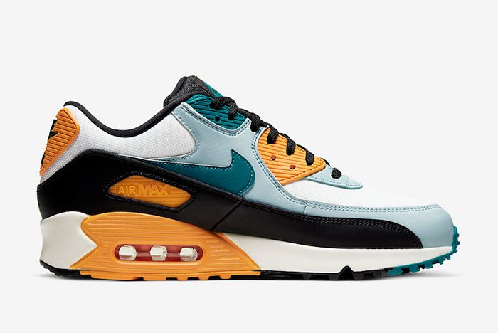 Nike Air Max 90 Teal Yellow Right