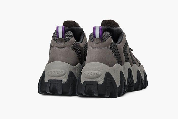 Eytys Halo Sneaker Nubuck Grey Rear Angle