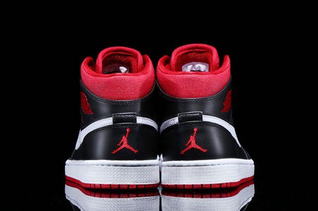 Jordan 1 Black White Red 3