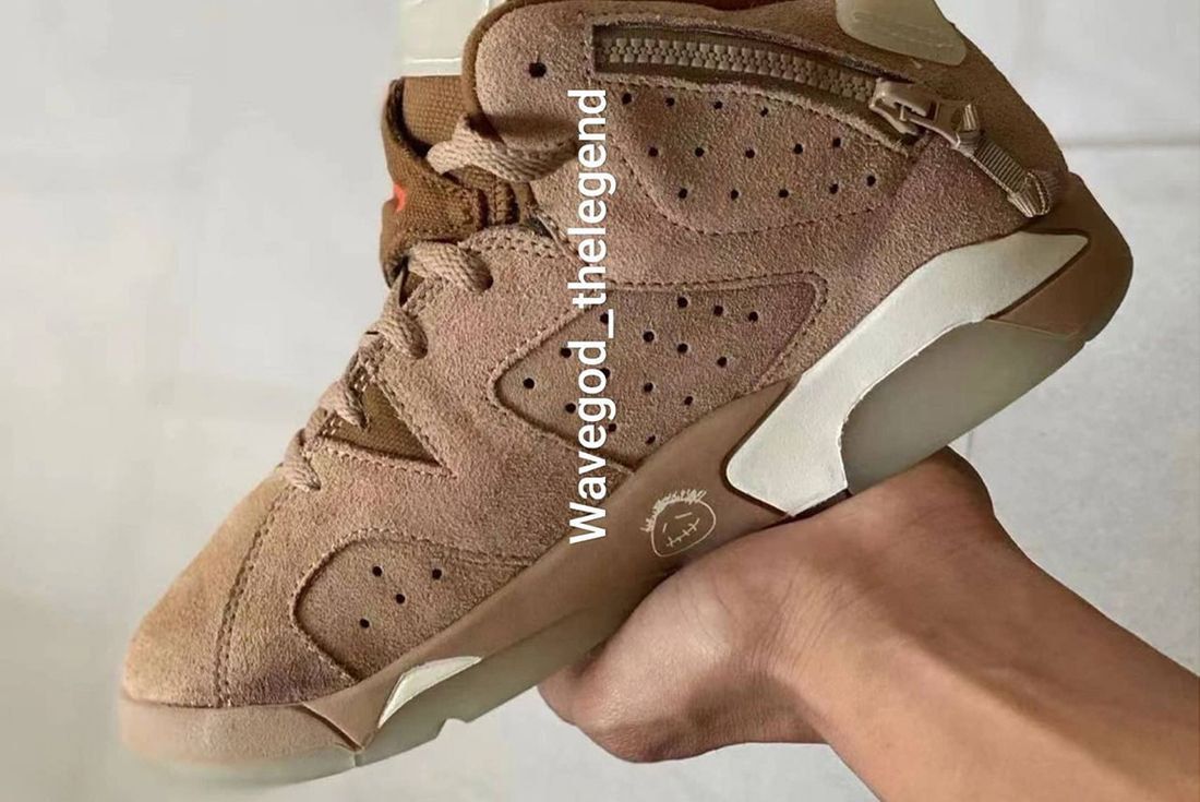 travis scott air jordan 6 khaki leak