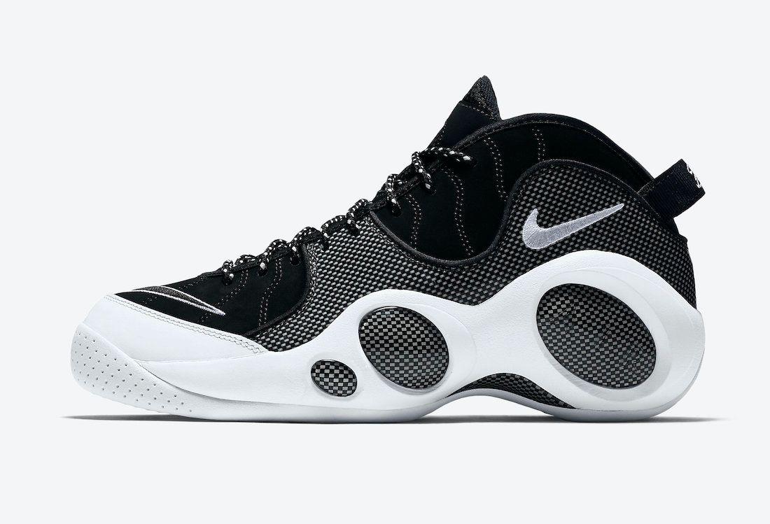 Nike Air Zoom Flight 95 OG 'Black Metallic' on white