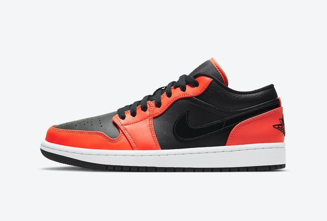 The Air Jordan 1 Low Opts for Black and Orange - Sneaker Freaker