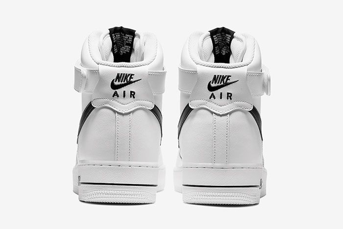 Nike Air Force 1 High White Black Ck4369 100 Heel