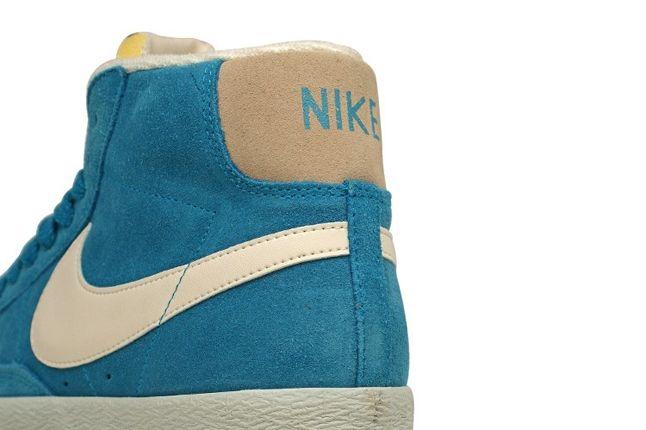 Nike Vntg Blazer Suede Blue Heel Detail 1