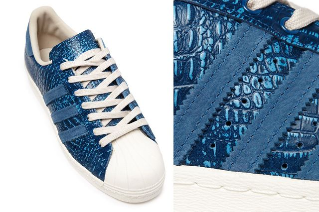 Adidas Superstar 80S Tribe Blue Reptile 2