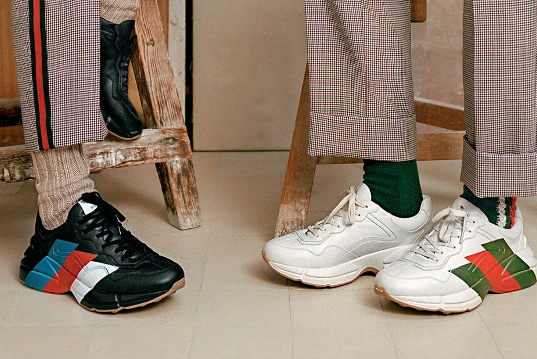 Gucci Rhyton Web Print Sneakers Black White Release 01 Sneaker Freaker