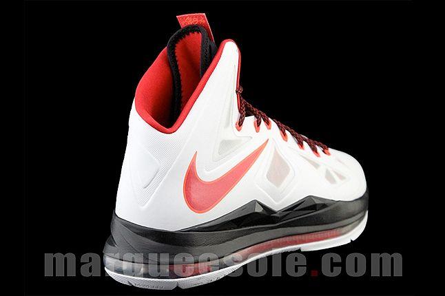 Nike Lebron X Home Quarter Heel 1