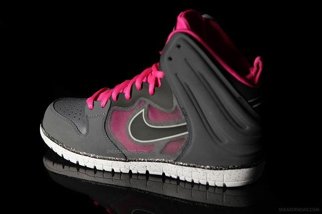 Nike Dunk High Free Grey Pink Profile 1