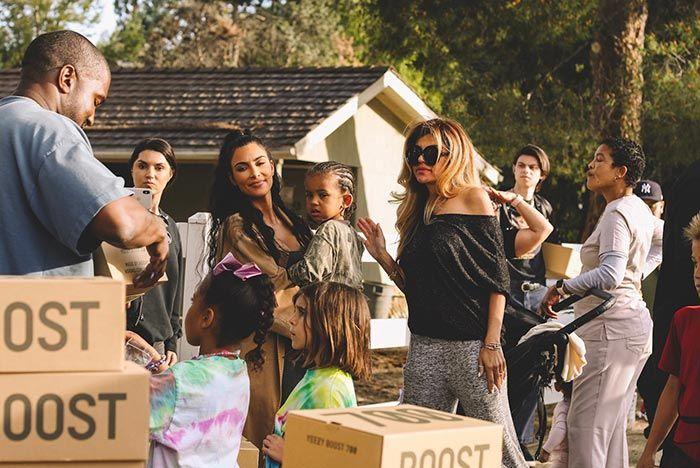Kanye West Lemonade Stand Kourtney Kardashian