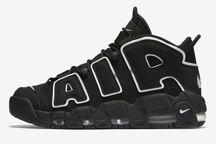 Nike Air More Uptempo Og Black White Left