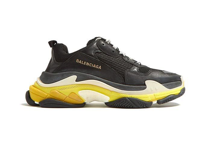 Triple S Black And Yellow
