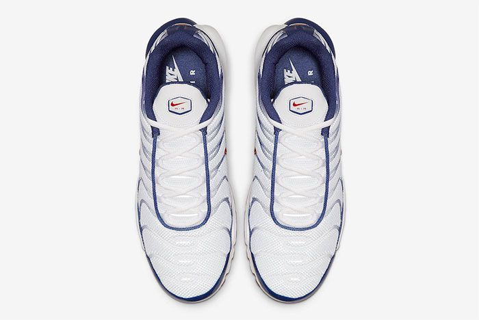 Nike Air Max Plus White Navy Red Top