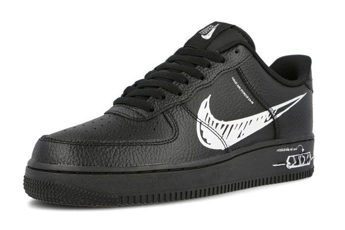 Nike Air Force 1 Sketch Black Toe