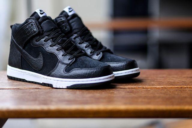 Nike Dunk Cmft Croc Blackwhite 2