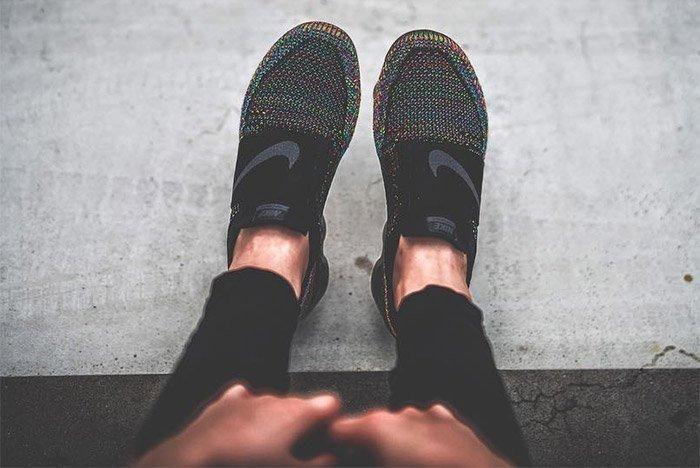 Nike Air Vapormax Strap On Foot 1