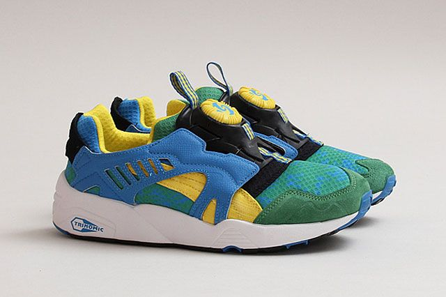 Puma Disc Cage Tropical Grn Ylw Brazil Perspective