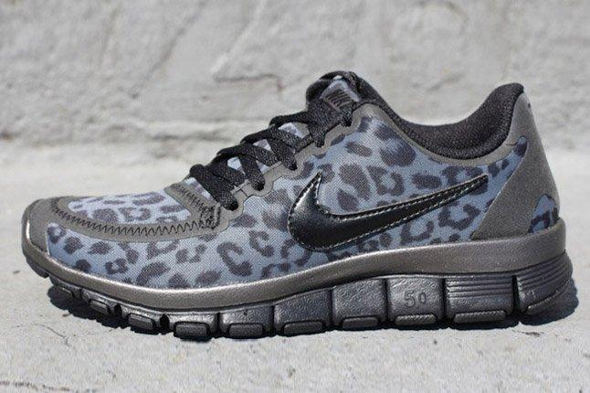 Nike Free 5 0 V4 Leopard Pack Black Side Profile 1
