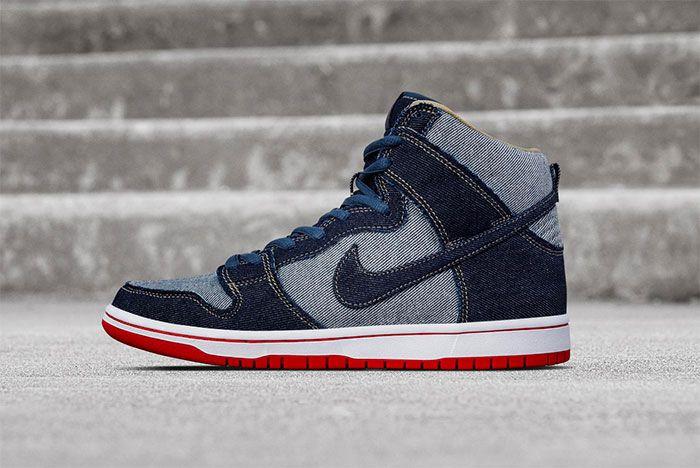 Nike Dunk Sb High Reese Forbes Denim Side