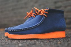 Mf Doom X Clarks Wallabee Boot Navy Thumb