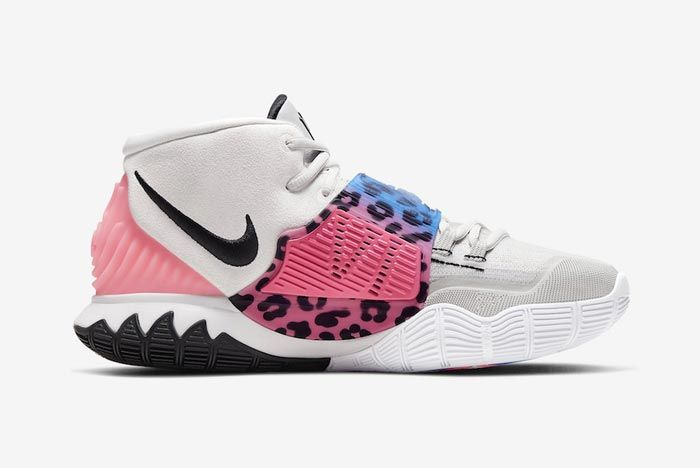 Nike Kyrie 6 Vast Grey Animal Print Medial