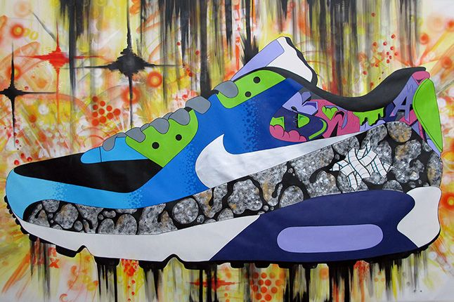 Sekure D Sneaker Mural Close Up 1