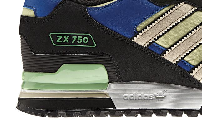 Adidas Blue Zx750 Side Details 1